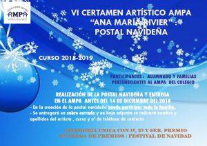 cartel postales navideñas 1819